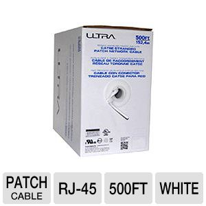 Ultra Patch Network Cable 500FT White