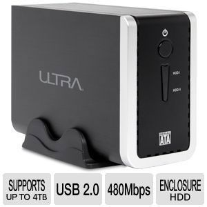 Ultra USB 2.0 Dual Bay External HD Enclosure