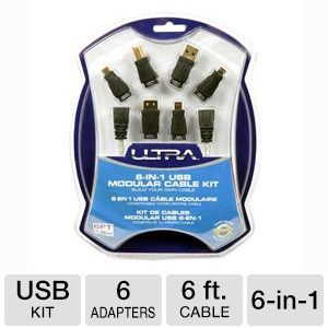 Ultra 6-in-1 USB Adapter Kit w/ 6FT Cable