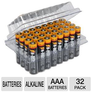 Ultra N-RGY AAA Alkaline Batteries - 32 Pack