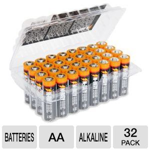 Ultra N-RGY AA Alkaline Batteries - 32 Pack