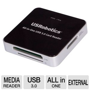 USRobotics USB 3.0 All-In-One Card Reader 