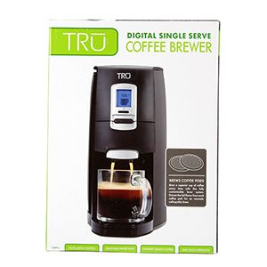Single Serve Coffee Maker With Large Reservoir : Tru Single Serve Pod Coffee Maker - Removable Water Reservoir, Interchangeable Pod Holder, Touch ...