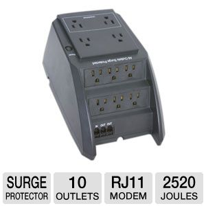 Ultra 10-Outlet Surge Suppressor w/ Fax & Modem