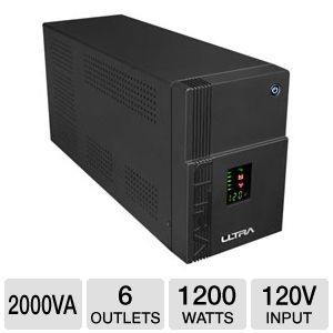 Ultra 6 Outlet 2000VA 1200w UPS w/ AVR