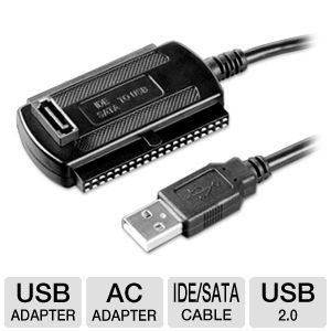 Ultra USB 2.0 to IDE/SATA Cable Adapter