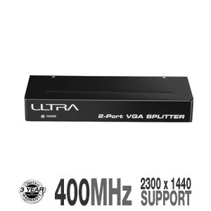 Ultra ULT40426 2-Port VGA Splitter 400 MHz
