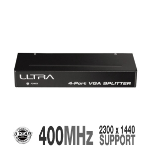 Ultra ULT40427 4-Port VGA Splitter 400 MHz