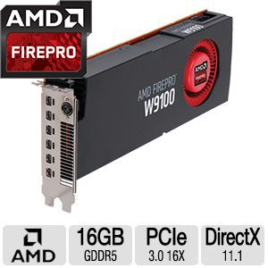 AMD FirePro W9100 16GB Professional Graphics Card