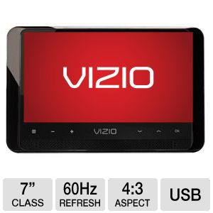 "Vizio 7""  Portable Rechargable LED Digital TV"