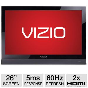 "Vizio 26"" 720p 60Hz Edge Lit Razor LED HDTV RB"