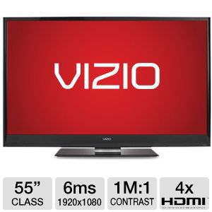 "Vizio 55"" 1080p 120Hz Apps WiFi 3D LED HDTV"