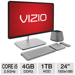 "Vizio 24"" Core i5 1TB HDD 4GB DDR3 All-In-One PC"