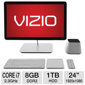 "Vizio 24"" Core i7 1TB HDD 8GB DDR3 All-In-One PC"