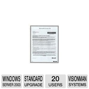 MS Windows Server 2003 Std. 20-pack CAL Upgrade