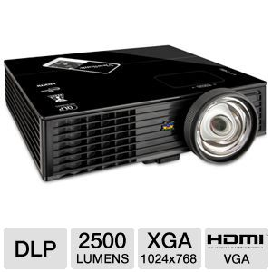 ViewSonic XGA Short Throw DLP Projector 