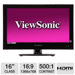 Viewsonic 16&quot; Class LED Monitor/HDTV Combo