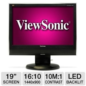 Viewsonic VG1932wm-LED 19&quot; Widescreen LED Monitor