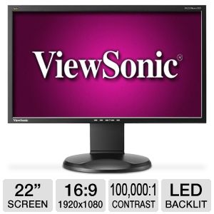 "Viewsonic VG2228wm-LED 22"" Widescreen LED Monitor"
