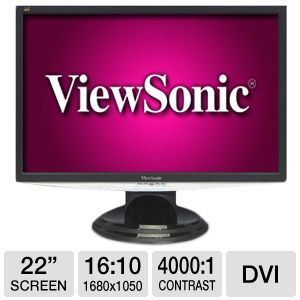 "ViewSonic VX2240w 22"" Wide 2ms LCD Monitor"