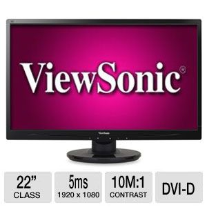 "ViewSonic 22"" Class Full HD 1080p LED Monitor"