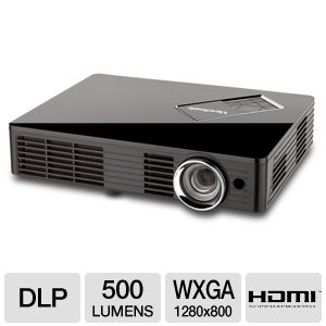 Viewsonic PLED-W500 WXGA Portable LED Projector