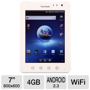 ViewSonic ViewPad 7e Android Tablet REFURB