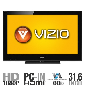 "Vizio E322VL 31.6"" LCD HDTV With VIA Vizio Interne"