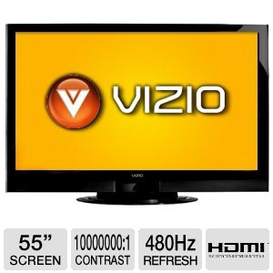 Vizio XVT3D554SV 55 inch 1080p 480Hz 3D LED LCD HDTV with Internet TV, Built-in Wi-Fi, 4ms Response Time