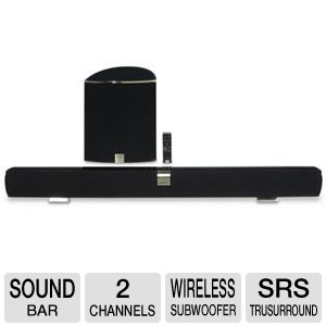 Vizio 2 Channel Sound Bar with Wireless Subwoofer