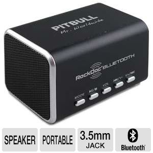 VisionTek RockDoc Bluetooth Black Two-Way Speaker