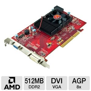 VisionTek Radeon HD 3450 512MB DDR2 AGP Graphics