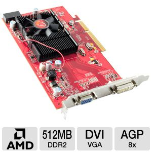 VisionTek Radeon HD 3450 512MB DDR2 Video Card