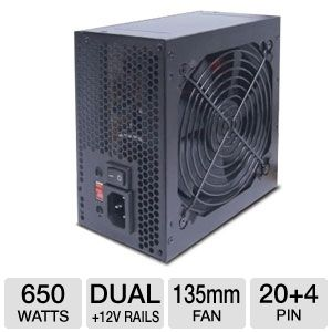 VisionTek 650W ATX Power Supply