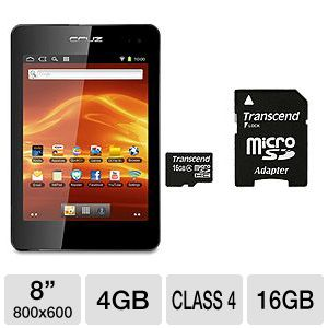 Velocity Micro Cruz T408 8&quot; Internet Tablet Bundle
