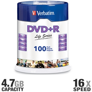 100-Pack DVD+R Spindle