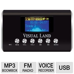 Visual Land ME-909-BLK MP3 Boombox
