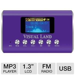 Visual Land ME-909-PRP MP3 Boombox
