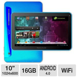 "Visual Land Prestige 10"" 16GB Android 4.0 Tablet"