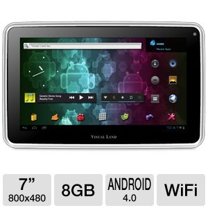"Visual Land 7"" 8GB White Internet Tablet"