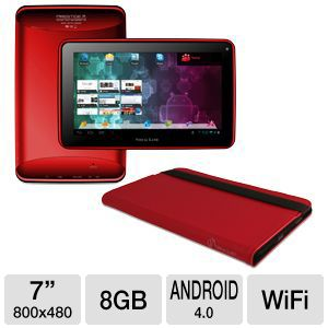 "Visual Land 7"" Android 4.0 8GB Tablet w/ Case"