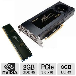 PNY GeForce GTX 960 Video Card and PNY XLR8 8GB Memory Bundle