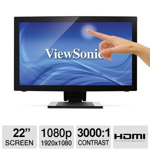 "ViewSonic TD2240 22"" Multi-Touch LED Monitor"