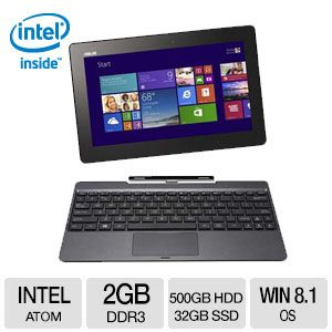 ASUS T100TA Quad Core 500GB + 32 SSD 2in1 Notebook
