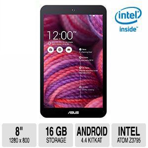 "ASUS MeMO Pad 8"" Android 4.4 KitKat Black Tablet"
