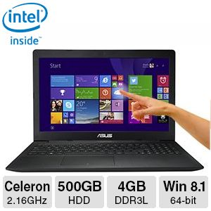 "Asus 4GB DDR3L, 500GB HDD, 15.6"" Touchscreen Laptop"