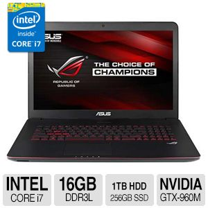 "ASUS Core i7, 16GB DDR3L, 1TB HDD + 256GB SSD, 17.3"" Laptop"
