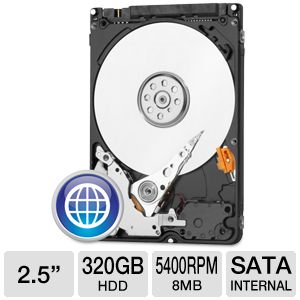 "WD Blue 2.5"" SATA 320GB Mobile Hard Drive"