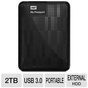 WD My Passport 2TB Black Hard Drive