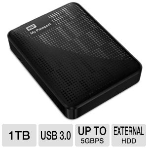 WD My Passport 1TB Black Hard Drive